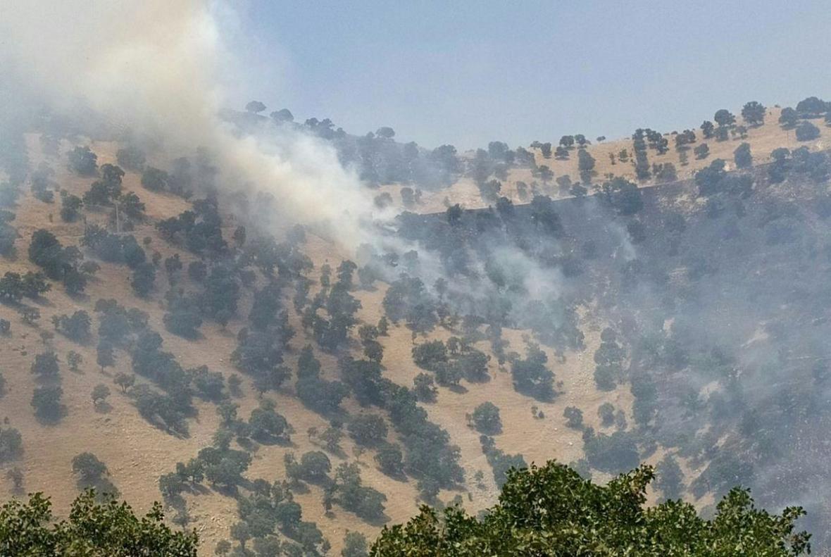 مهار آتش سوزی منطقه حفاظت شده بوزین مرخیل پس از 8 روز