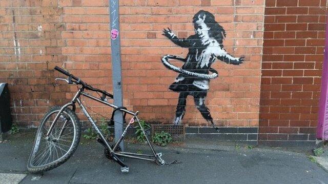اثر جدید بنکسی بر روی دیواری در انگلستان