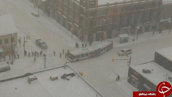 توفان سهمگین برف در اتاوا به روایت تصویر